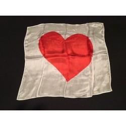 Silketørklæde med hjerte