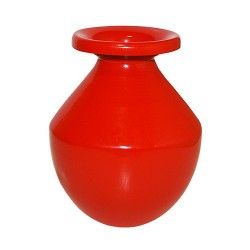 Lota Vase aluminium rød