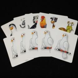 Svengalikort med dyr