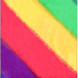 Silketørklæde - diagonale striber