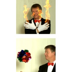Brændende handsker til blomster
