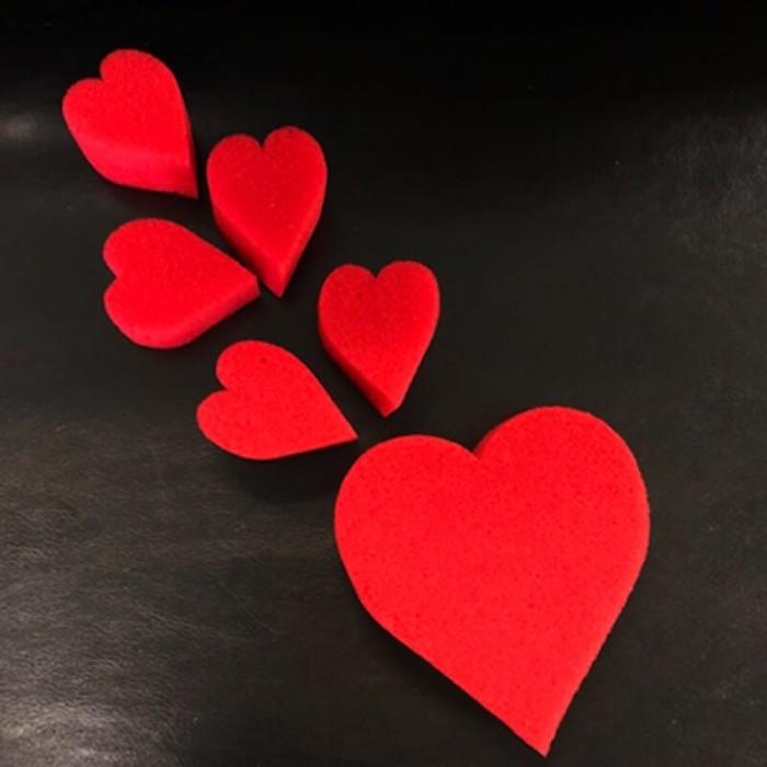Sponge Heart Set (Red) - Goshman