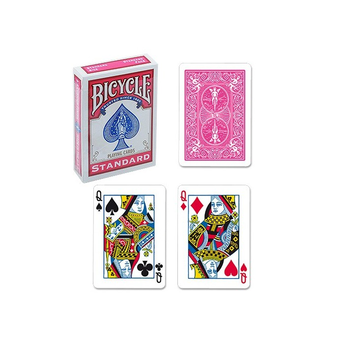 Bicycle Poker Deck - Fuchsia Back