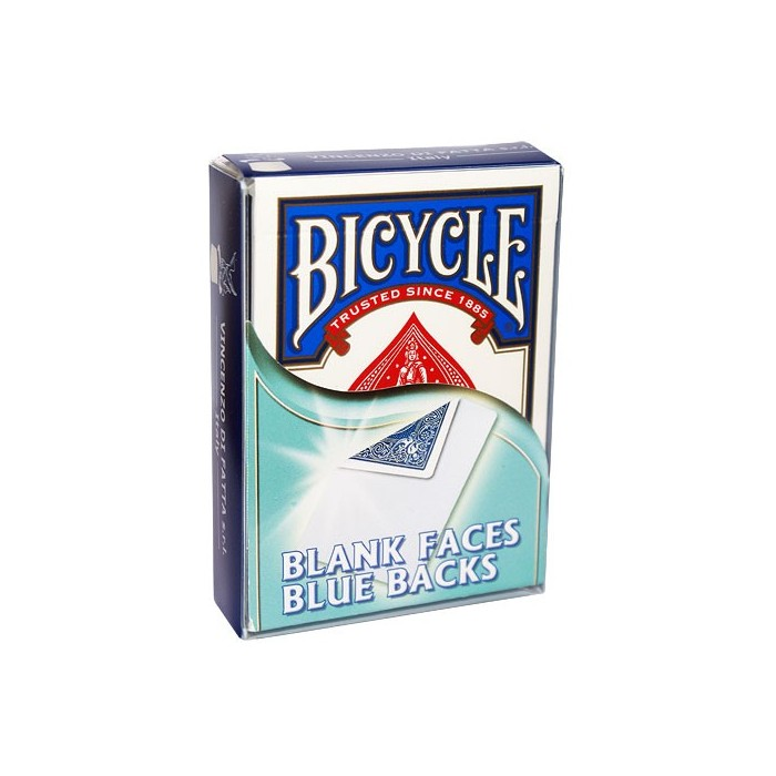 Bicycle kort Blank/Blå