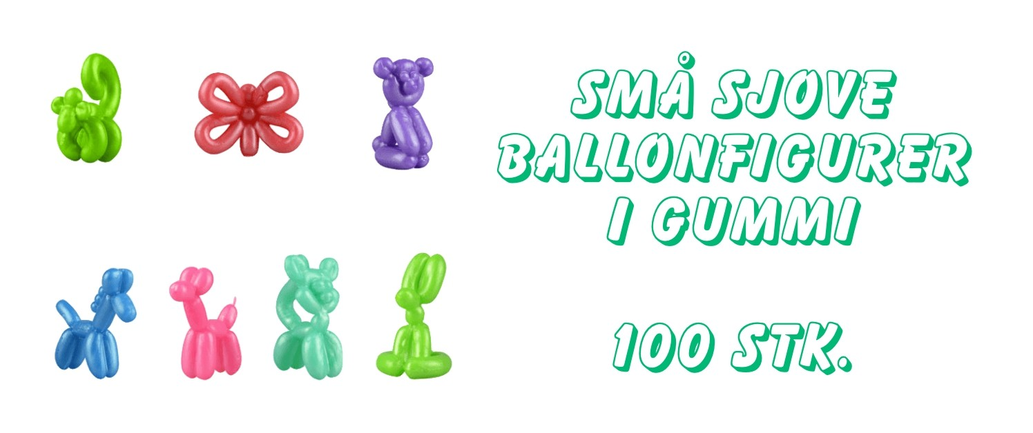 Ballonfigurer i gummi